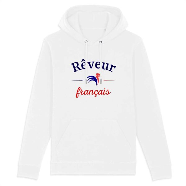 Sweat à capuche Rêveur français - BIO